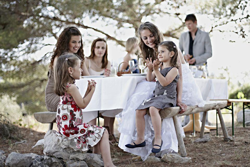 Children attending wedding
