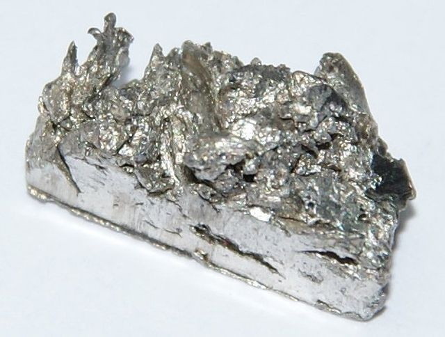 Pure ytterbium is a lustrous, silvery metal.