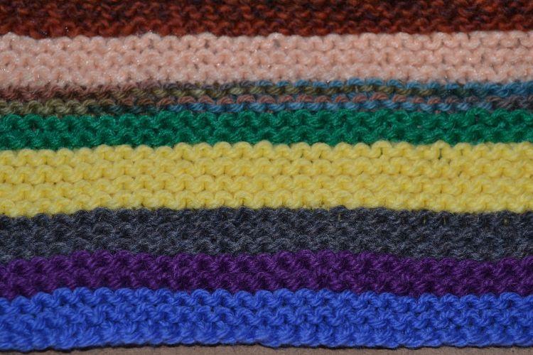 garter stitch rows