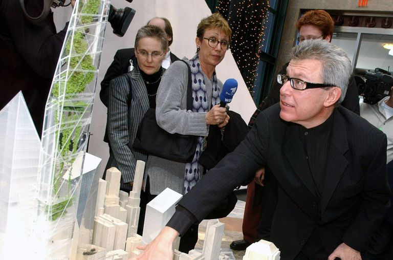 Architect Daniel Libeskind Presents His Vertical World Gardens Design for the Redevelopment of the WTC Site, December 2002
