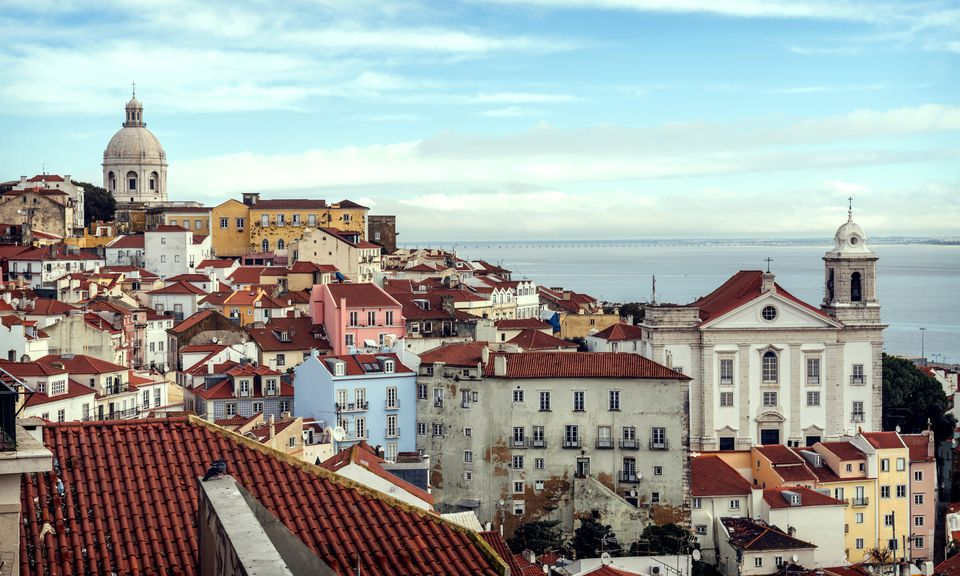 Portugal, Lisbon, view of Alfama neighborhood