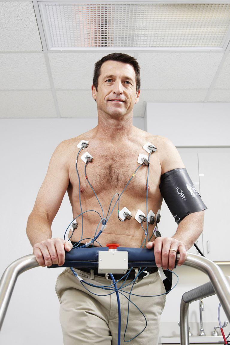 A treadmill stress test.