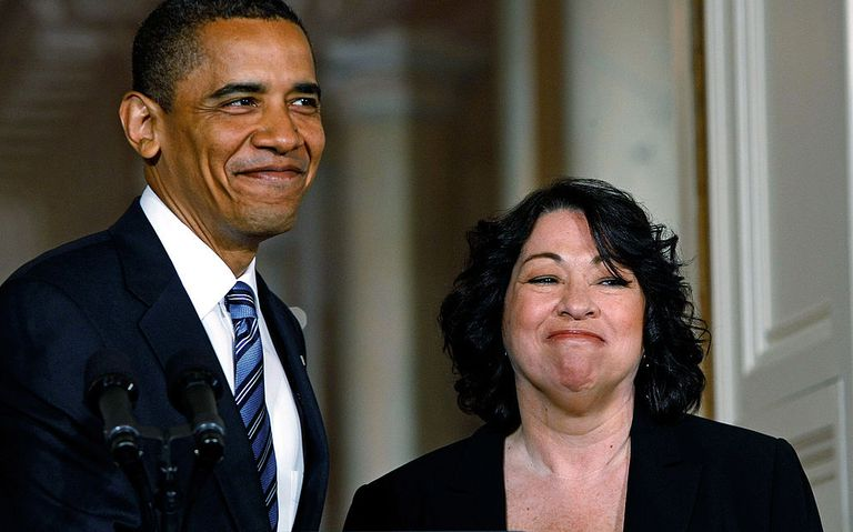 President Barack Obama announces federal Judge Sonia Sotomayor is his choice to replace retiring Justice David Souter on the Supreme Court in 2009.