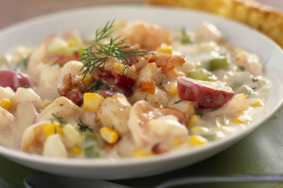 Corn and seafood chowder recipe for Recipe for fish chowder