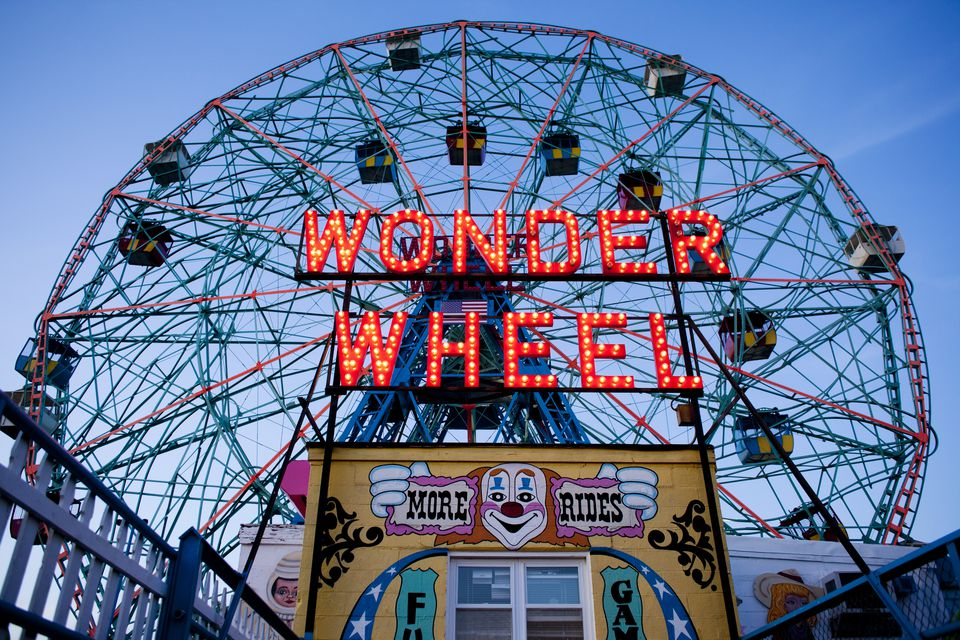The wonder wheel at Coney Island.