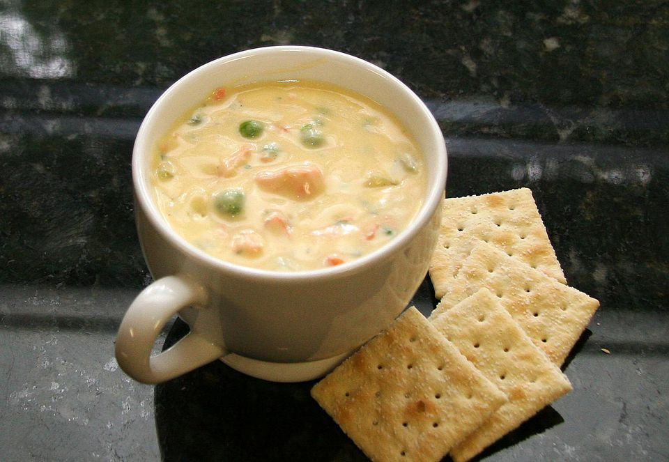 Cheese and Salmon Chowder