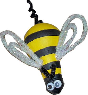 How to Make a Bumble Bee Out of a Light Bulb