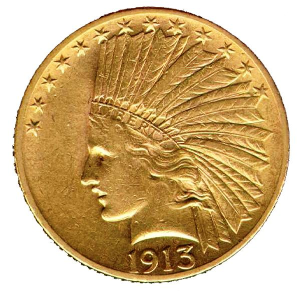 1913 $10 Gold Indian XF-45