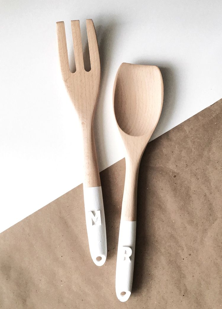 DIY Personalized Salad Servers