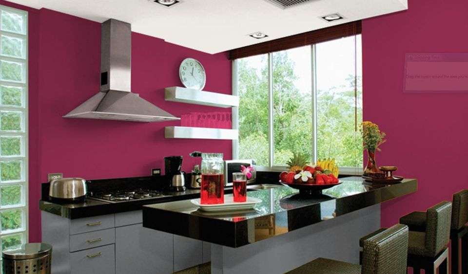 Sangria And Charcoal Gray Kitchen Colors