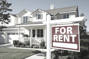 home with for rent sign