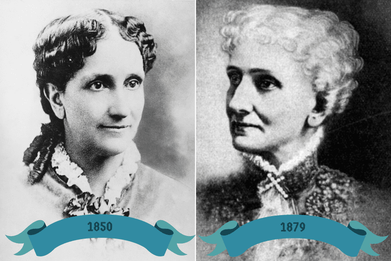 Mary Baker Eddy about 1850 and 1879