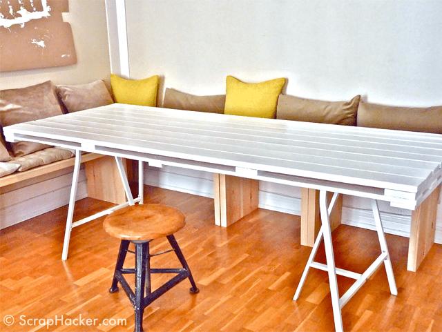pallet furniture projects. free pallet dining table plan at scraphacker furniture projects