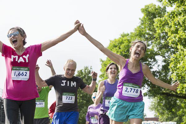 Baby boomers in half-marathon