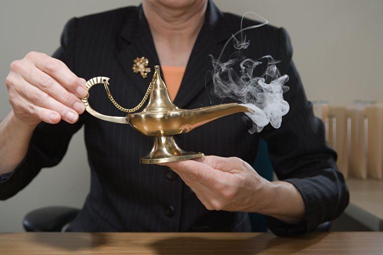magic genie in a bottle experiment
