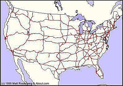 Interstate Higway Map