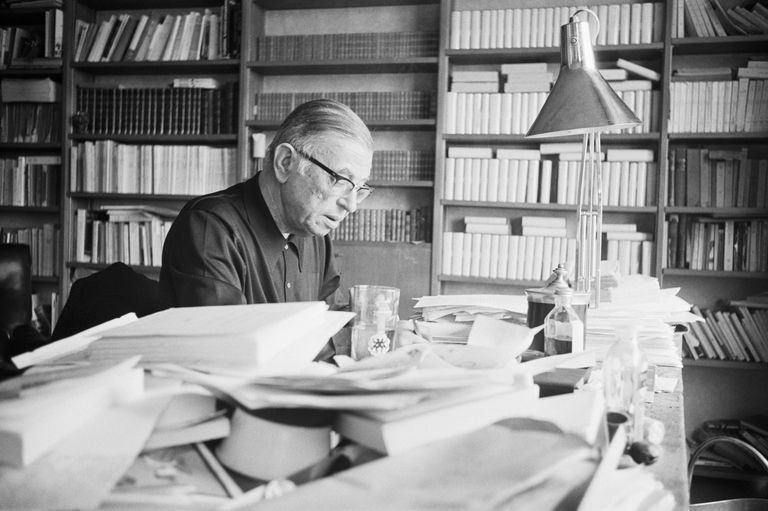 French philosopher Jean-Paul Sartre