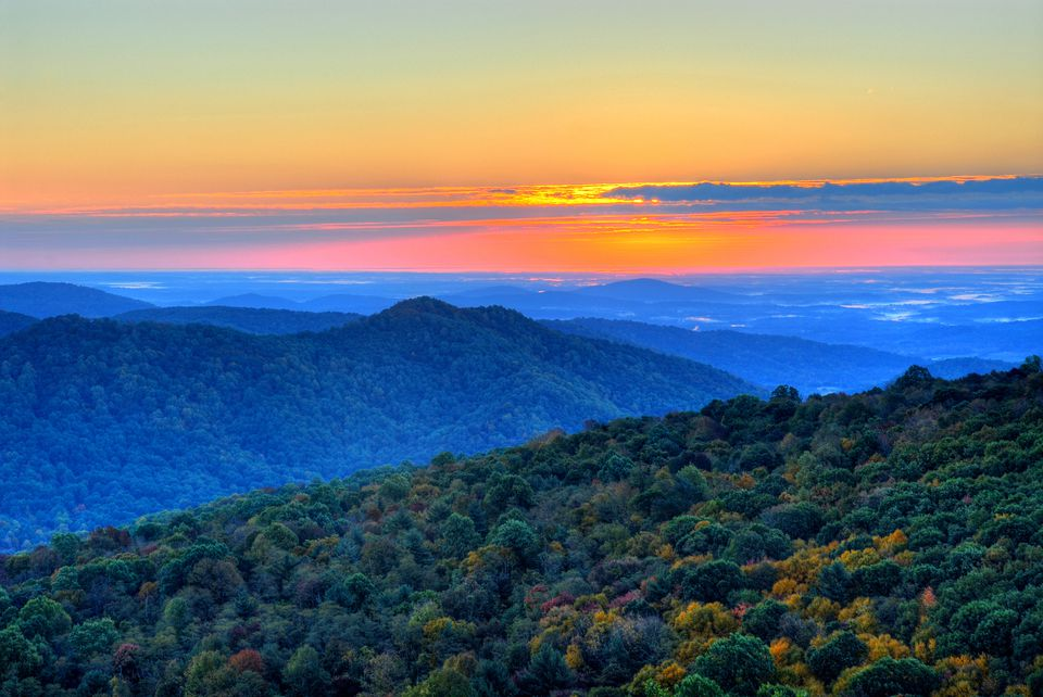 The Blue Ridge Mountains in North Carolina