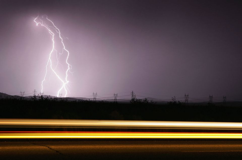 Lightening and thunderstorms are a danger to RVs on the road.