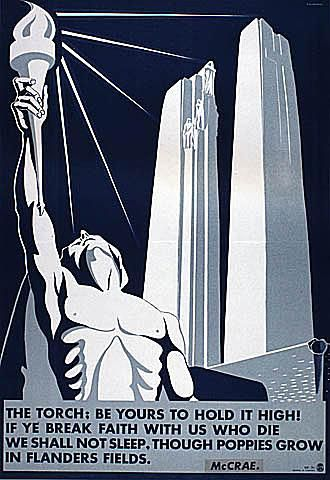 The Torch - Canadian World War II Poster