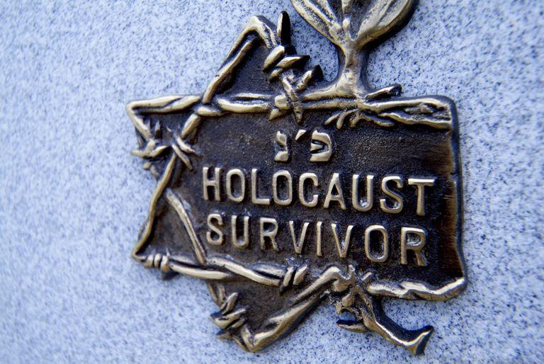 Close-up of a memorial plaque