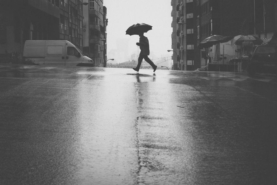 Umbrella in the rain