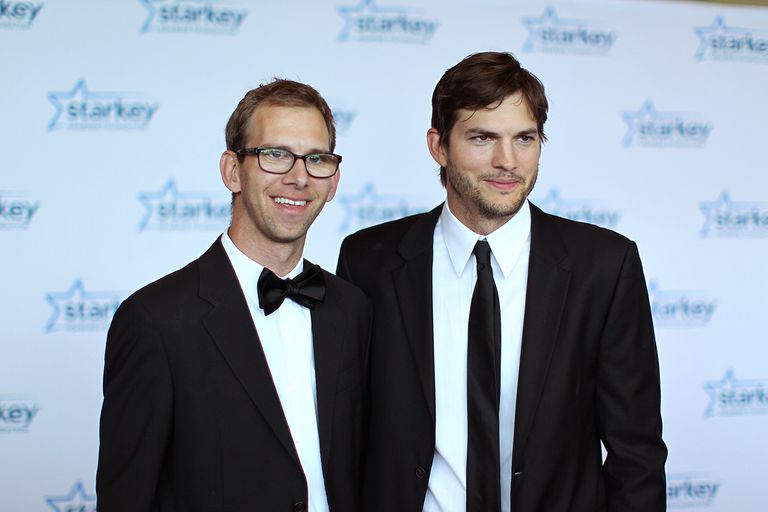 Ashton Kutcher and his twin brother, Michael Kutcher