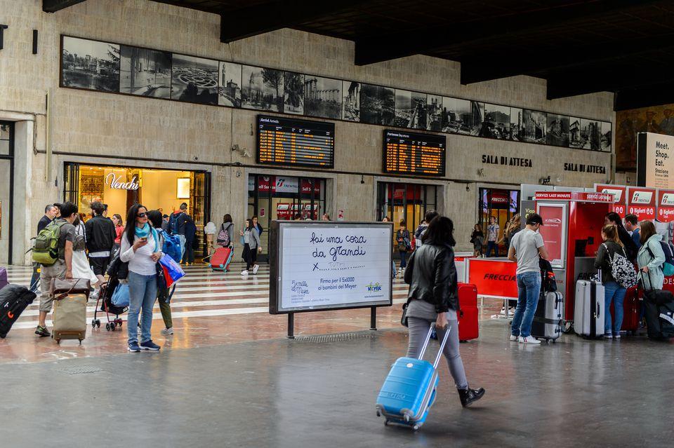 Firenze Santa Maria Novella, a terminus railway station in Florence.