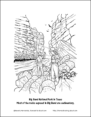 Rocks Work Sheets and Coloring Pages