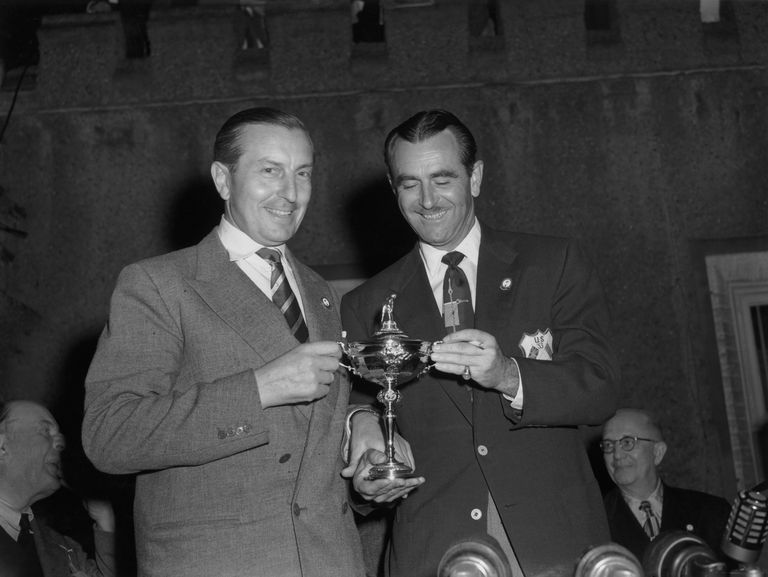 1953 Ryder Cup captains Henry Cotton (left) and Lloyd Mangrum