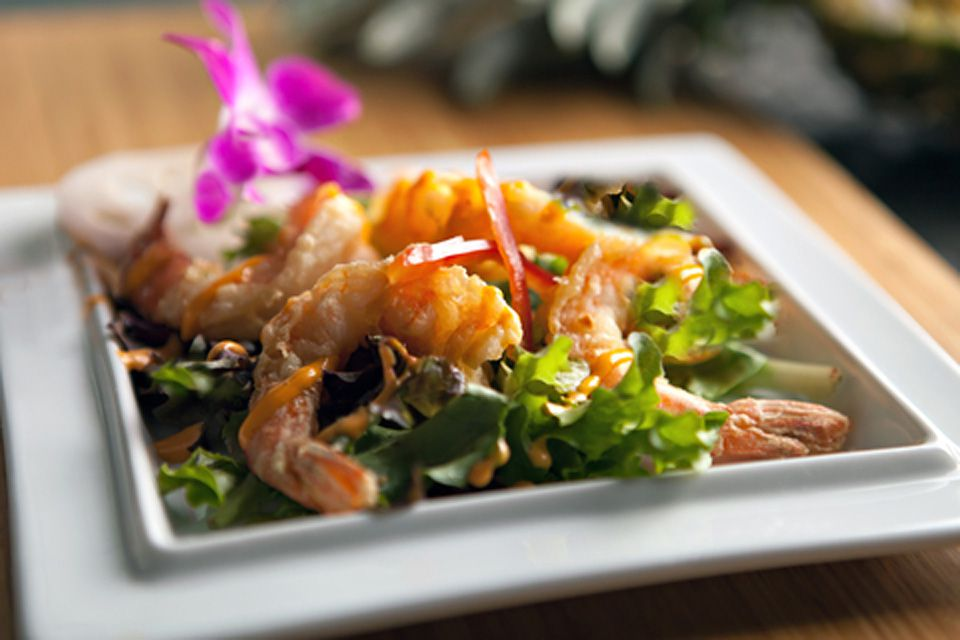 Thai Shrimp Salad with Coconut-Chili-Dressing