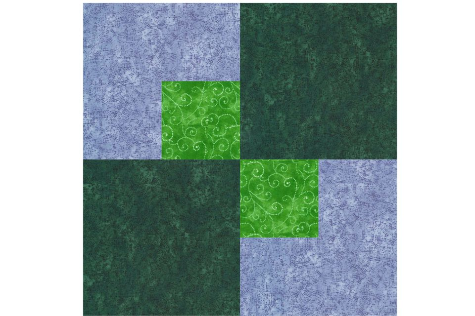 Bow Tie Look Quilt Block Pattern