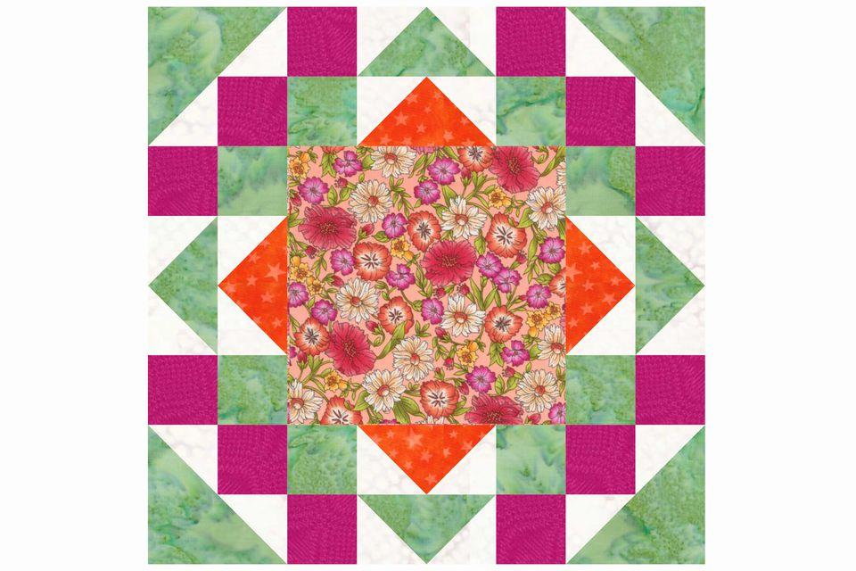 Goose Frame Quilt Block Pattern