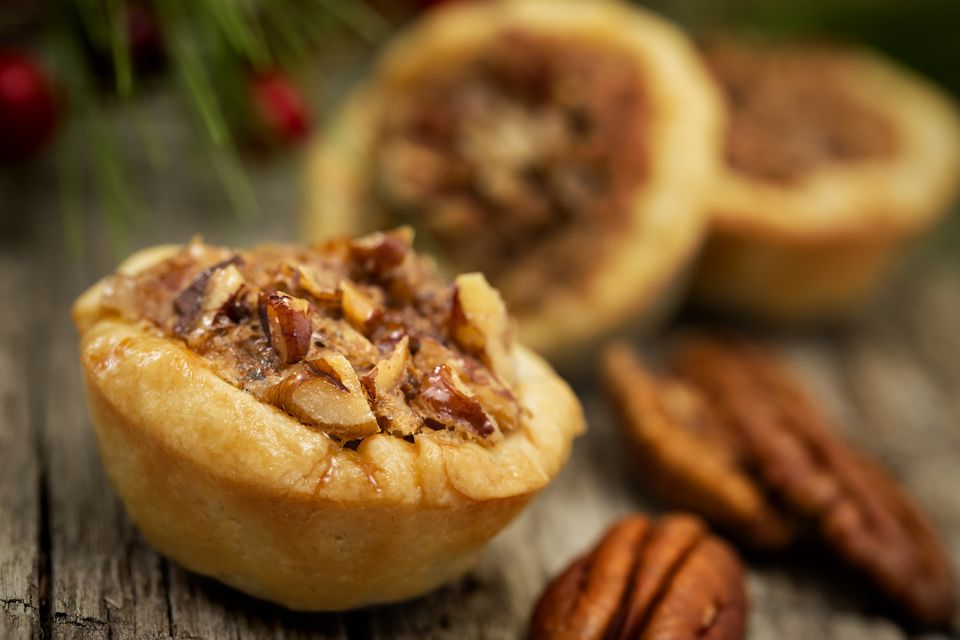 A close-up of Pecan pie cookies