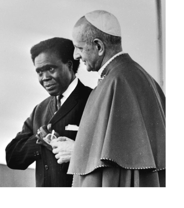 Milton Obote and Pope Paul VI