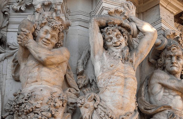 Manic satyrs in mythology