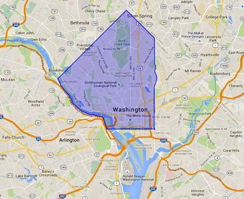NW Washington DC A Map and Neighborhood Guide