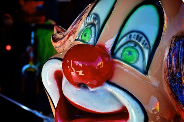 Close-Up Of Clown Face