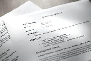 selective focus shot of resume