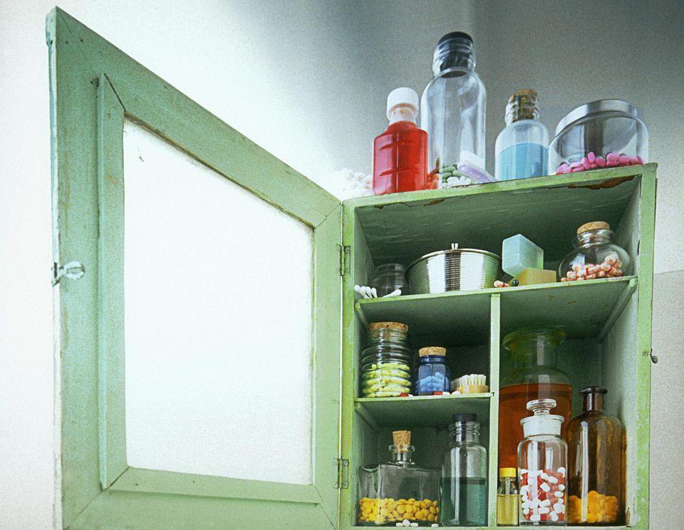 Green medicine cabinet