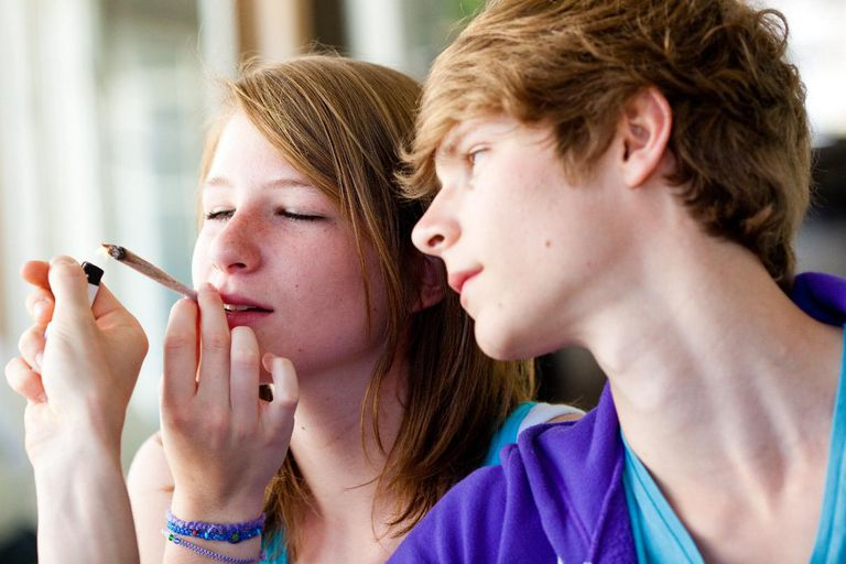 Teen Couple Smoking Marijuana