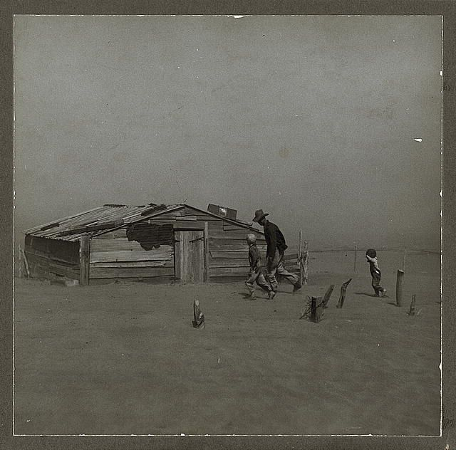 dust storm during the depression