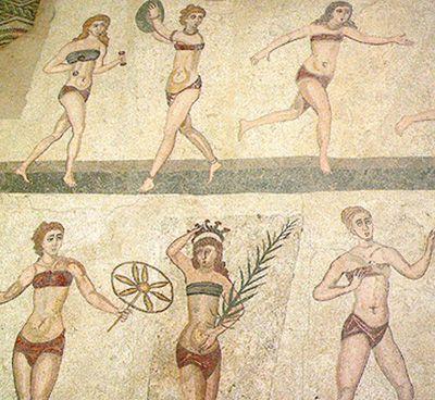 Mosaic of Women Athletes
