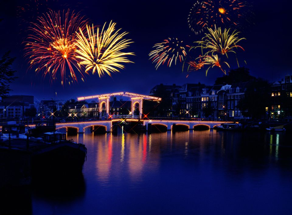 Fireworks in Amsterdam, Holland