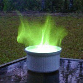 Green fire is easy to make and doesn't require any hard-to-find chemicals.