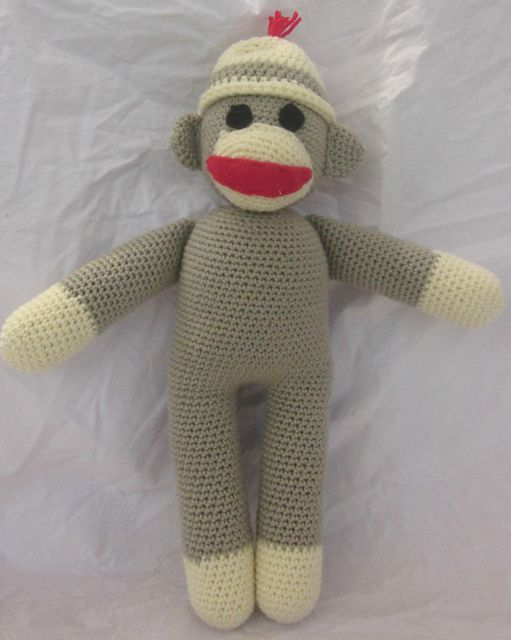 Sock Monkey Stuffed Animal Free Crochet Pattern