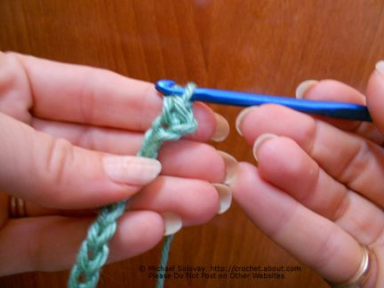 Single Crochet Into Second Chain From Hook