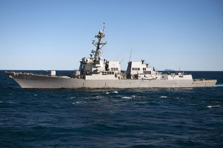 July 24, 2013 - The guided-missile destroyer USS Momsen (DDG-92) transits the Coral Sea during exercise Talisman Saber 2013.