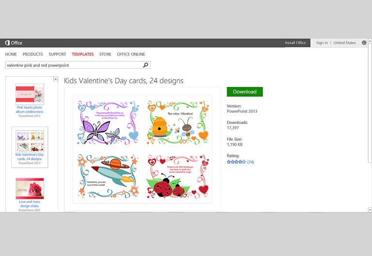 Free valentines day templates for ms office printable valentine cards for kids template for powerpoint publisher or word toneelgroepblik
