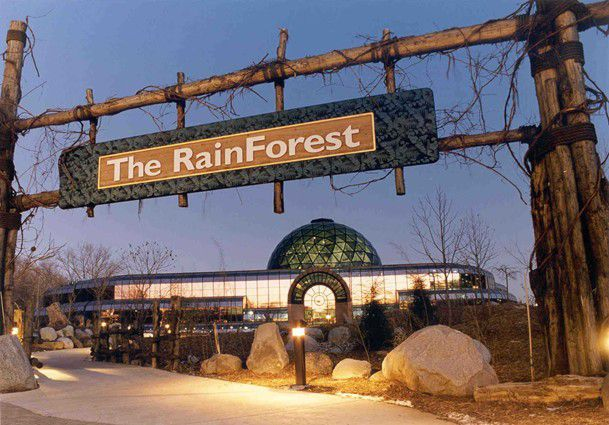 Rain Forest Pavilion at the Cleveland Metroparks Zoo, Cleveland Ohio